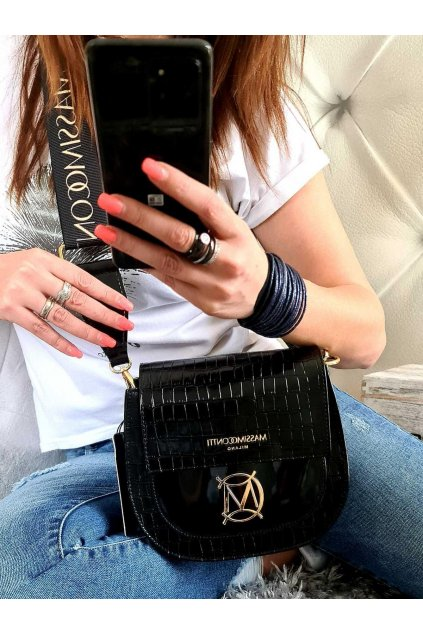 MASSIMO contti crossbody lak trendy kabelka italy style elegant