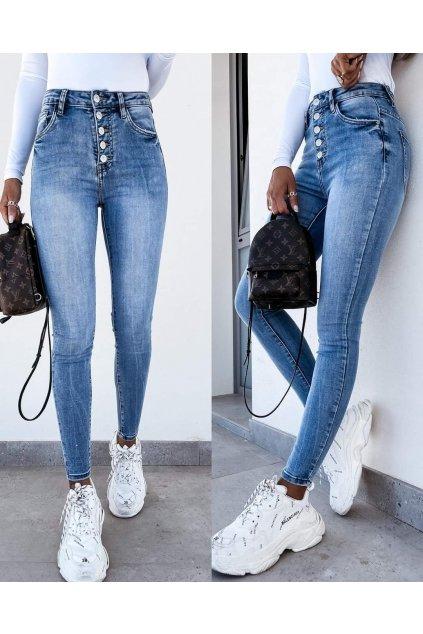jeans trendy knoflíčky elastické pružné stylové džíny