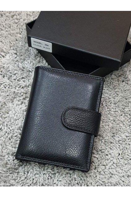 Pánská kožená peněženka na výšku černá