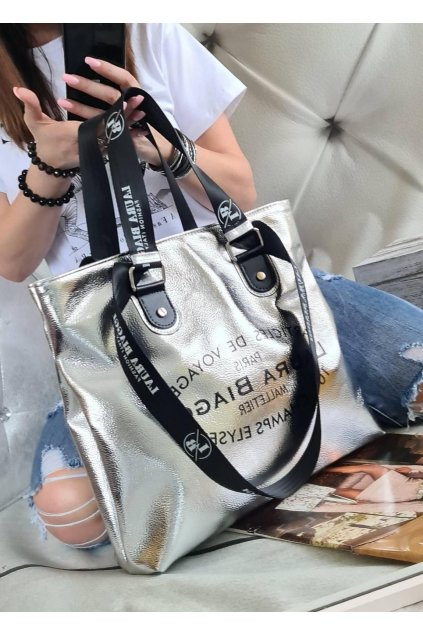 BIAGGIS kabelka trendy stříbrná laura biaggi kolekce pedros eko kůže