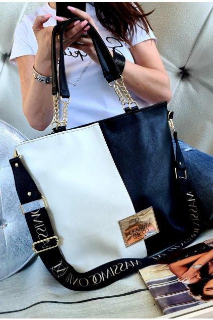 Massimo Contti luxusní značkové kabelky trendy fashion bíločerná II
