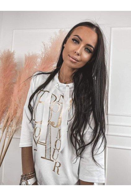 Dámské triko Bonjour bílé