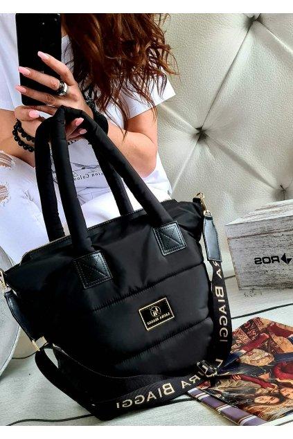 laura biaggi kabelka trendy značková luxusní kabelka must have černá