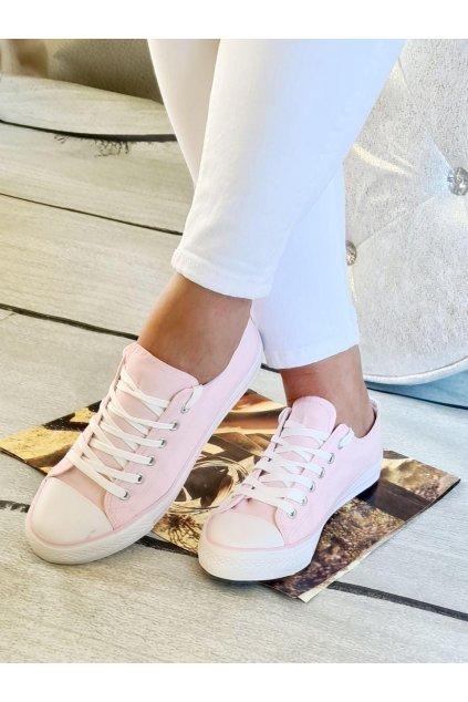 tenisky plátěnné jersey trendy světle růžová