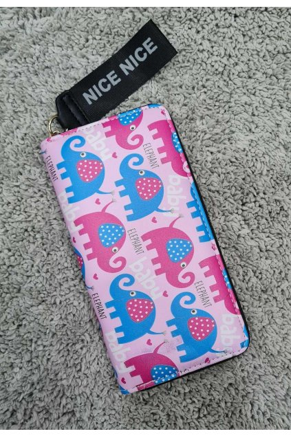 Dámská peněženka NICE tmavě růžová