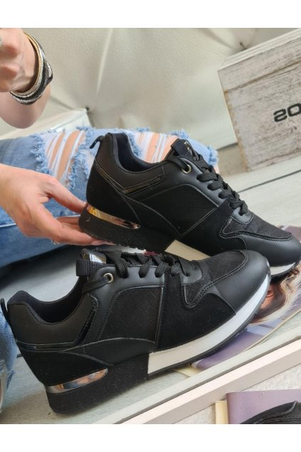 TENISKY harley černé black botasky trendy