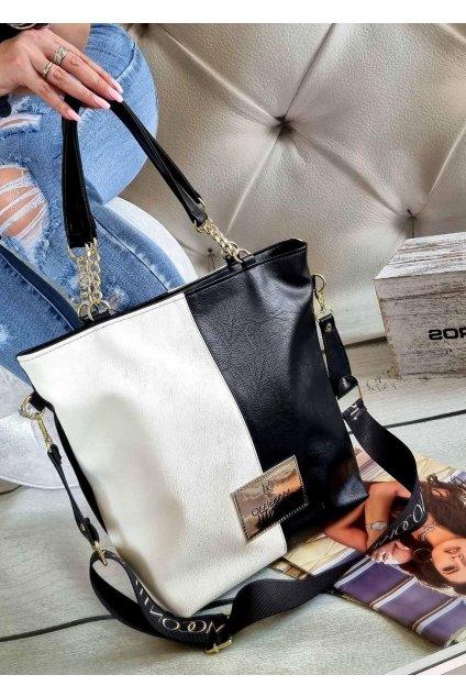 MASSIMO contti exklusivní kabelka značková luxusní italy fashion bíločerná