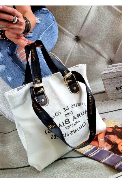 Laura Biaggi biaggis značková kabelka luxusní trendy bílá exklusive top design