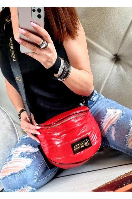 crossbody mandy laura biaggi červená barva značková luxusní kabelka