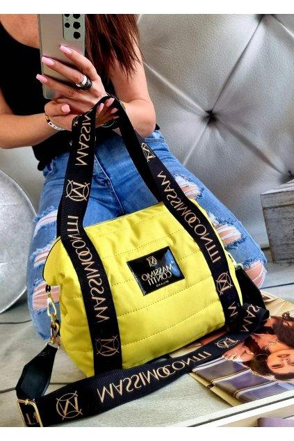 Massimo contti luxusní značková kabelka italy fashion trendy žlutá