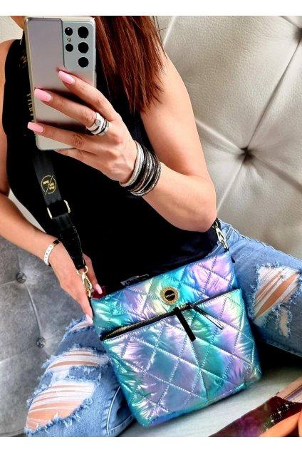 crossbody laura biaggi metalická značková luxusní kabelka italy fashion