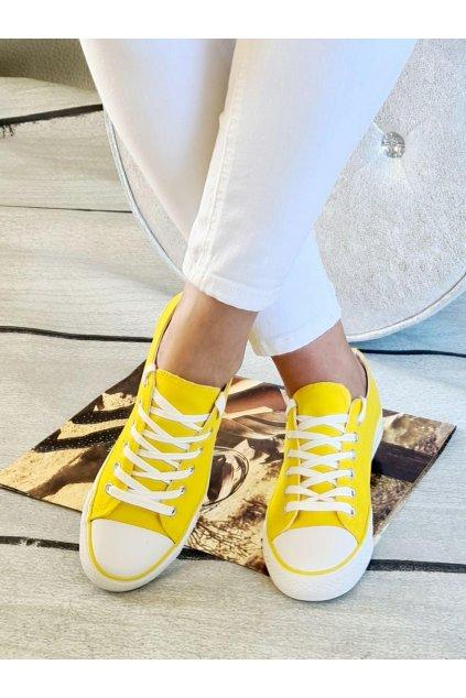 tenisky plátěnné jersey žluté světle