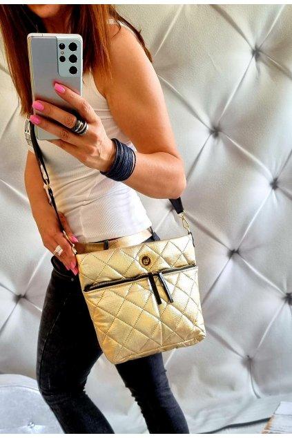 crossbody laura biaggi gold zlatá značková kabelka