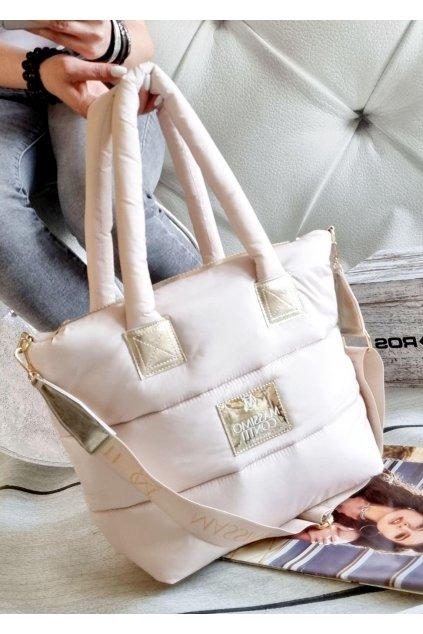Massimo contti kabelka italy fashion luxusní značková kabelka béžová beige