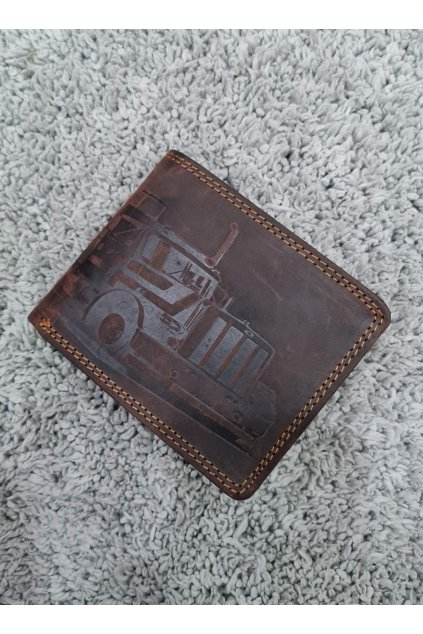 Pánská peněženka pro kamioňáky tmavě hnědá