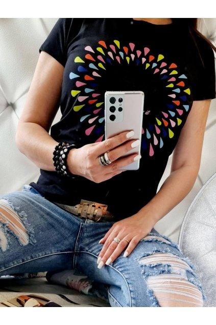 triko hello life bavlněné uni černé