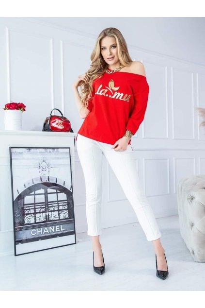 triko lamu červenooranžové trendy polsa vyroba