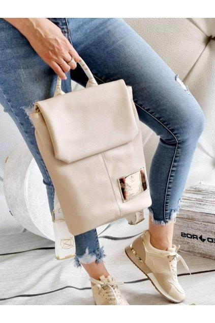 batoh massimo contti béžový značkový luxusní batoh