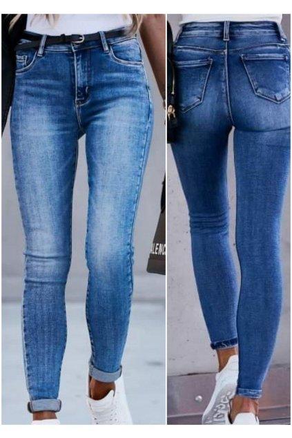 jeans modré trendy elastické