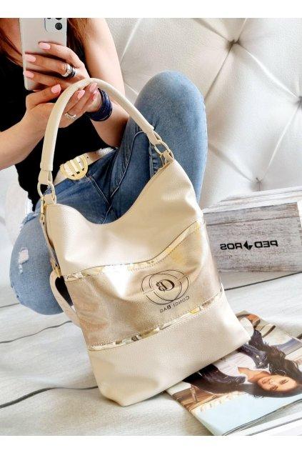 conci značková luxusní kabelka trendy italy fashion premium kvality béžovozlatá
