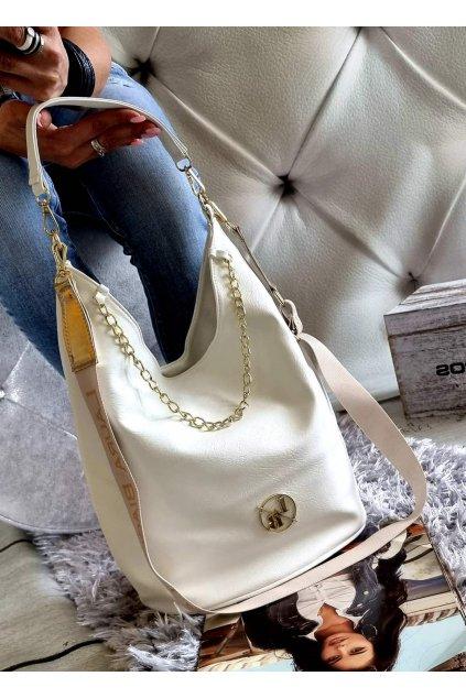 kabelka laura biaggi elegant značková luxusní kabelka bílá