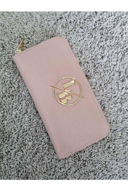 Kožená peněženka Laura Biaggi růžová