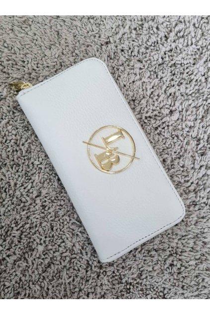 Kožená peněženka Laura Biaggi bílá