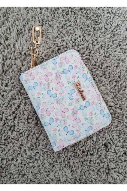 Peněženka ESLEE s motýlem bílá