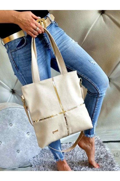 CONCI KABELKA značková luxusní kabelka béžová