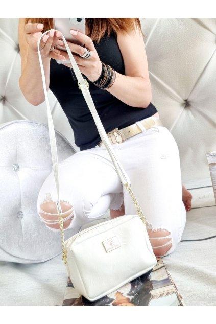crossbody laura biaggi bílá značková kabelka