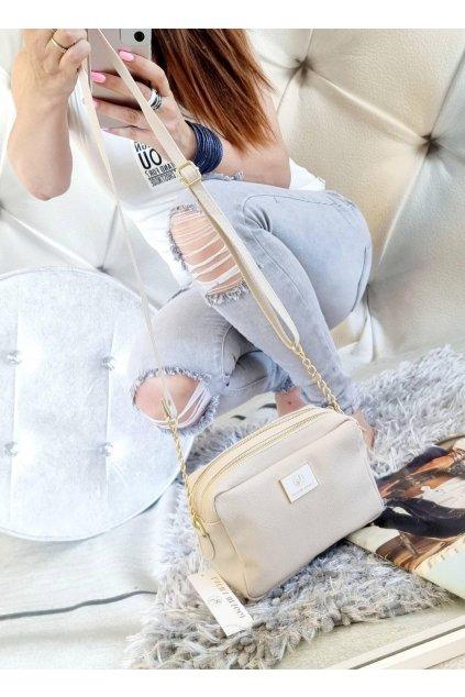 crossbody laura biaggi elegantní značková kabelka luxusní trendy béžová