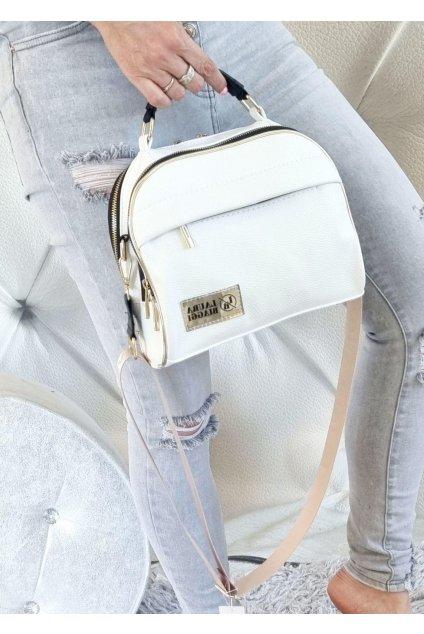 crossbody laura biaggi elegantní značková kabelka luxusní trendy bílá WHITE