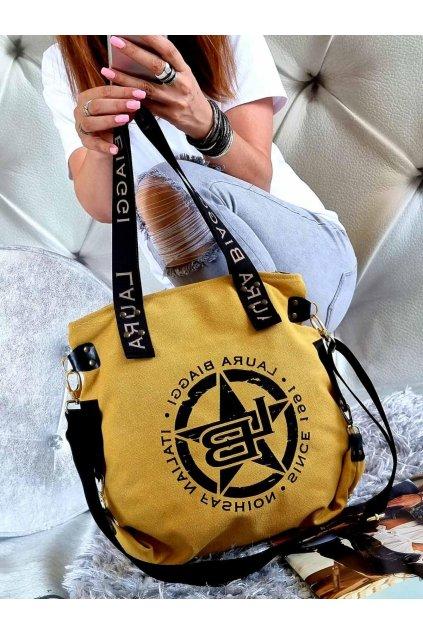 Harley žlutá značková kabelka laura biaggi luxusní kabelka