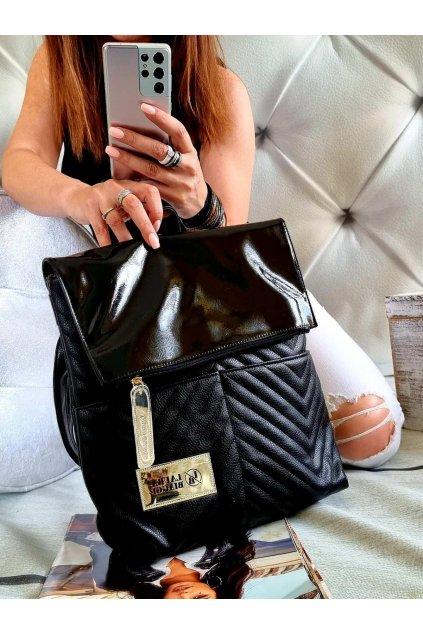 batoh laura biaggi černý značkový luxusní batoh