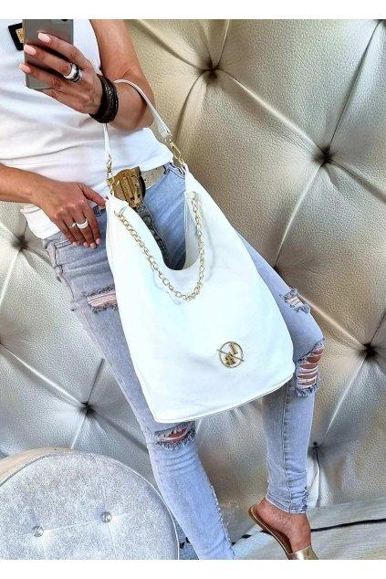 LAURA biaggi elegant značková luxusní kabelka bílá