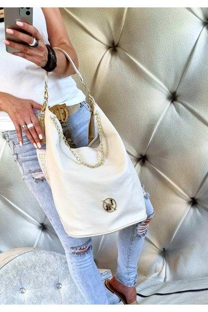 LAURA biaggi elegant značková luxusní kabelka béžová