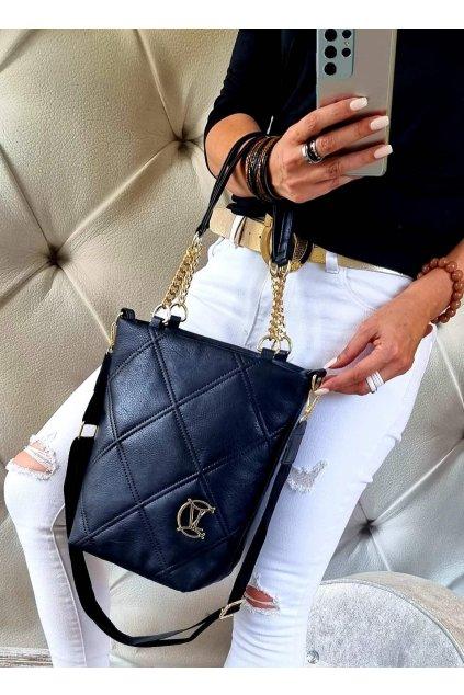 kabelka značková luxusní trendy vittoria lucca modrá
