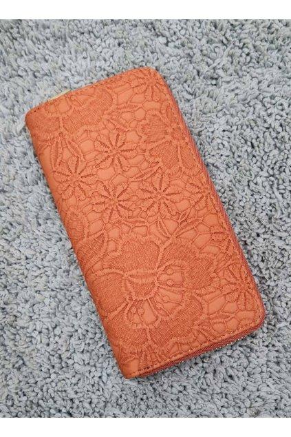 Dámská peněženka Flower oranžová