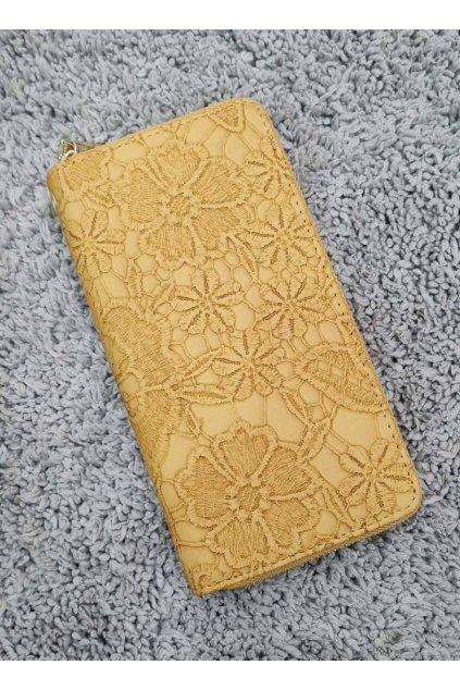 Dámská peněženka Flower žlutá