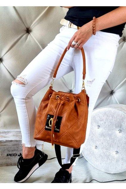 kabelka značková luxusní trendy vittoria lucca II koňak