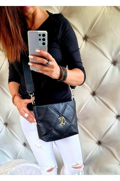KABELKA luxusní crossbody značková vittoria IV černá trendy