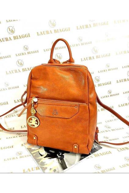 Dámský modní batoh Lulu Castagnette koňakový