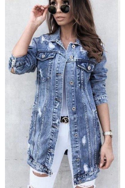 dámský jeans kabátek trendy delší