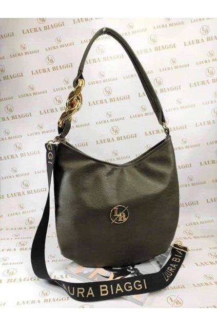 Trendy dámská kabelka Laura Biaggi Chain zelená