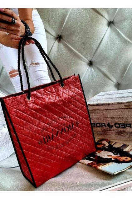 kabelka nákupní taška červená