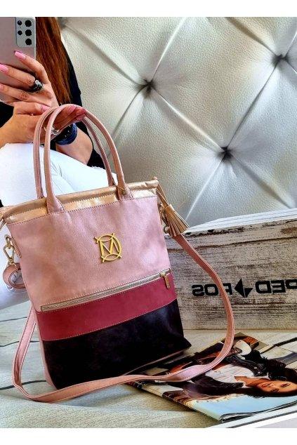 Dámská trendy kabelka Massimo Stylle růžová
