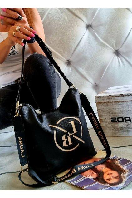 kabelka Laura Biaggi Martis značková luxusní kabelka trendy černá