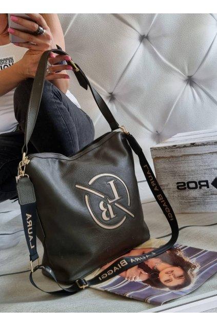 kabelka Laura Biaggi Martis značková luxusní kabelka trendy zelená