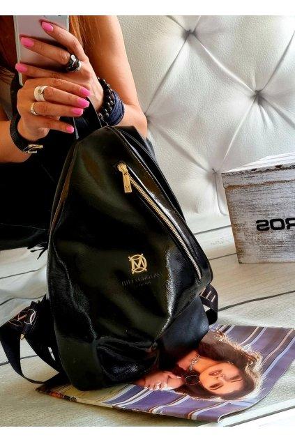 Batoh Massimo Contti černý luxusní značkový batoh italy fashion