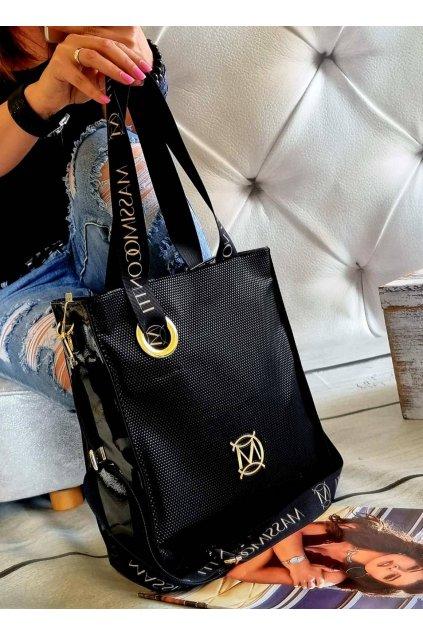 kabelka Massimo Contti černá italy fashion luxusní značková kabelka